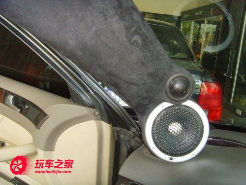 奥迪a6改装三分频套装喇叭