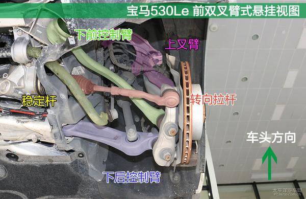 材质工艺俱上乘 宝马530Le底盘实拍解析