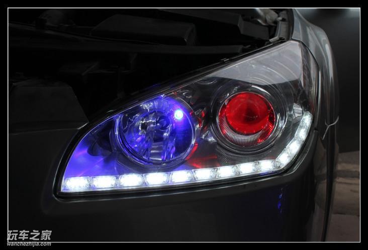 奔腾b50车灯改装升级