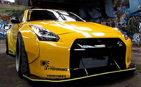 很黄很暴力 LW宽体GTR