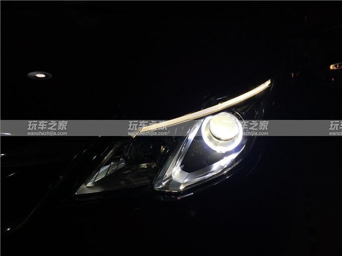 长安欧尚改灯升级GTR海拉五双光透镜氙气灯天使眼高清图片
