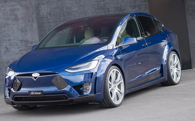特斯拉Model X改装FAB Design宽体包围