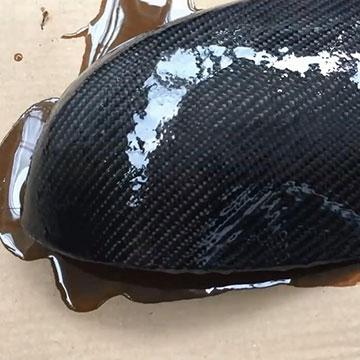 自制碳纤维后视镜盖过程