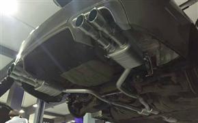 宝马525Li 改装德国Repose四出阀门排气 