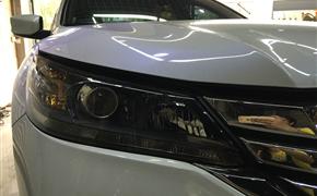 本田雅阁车灯改装升级 海拉5透镜