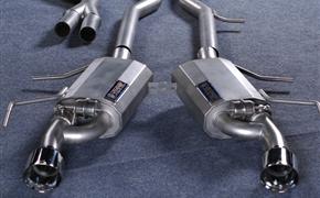 凯迪拉克ATS-L改装Mr.Monke猴子制燥遥控阀门中尾段左右单出排气管