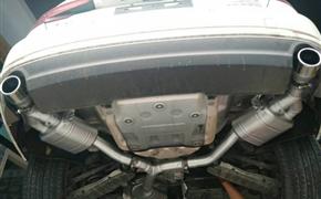 新款奥迪A4L 2.0T 改装Repose双边单出阀门排气
