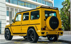 奔驰G级加装DMC双层碳纤尾翼