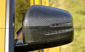 奔驰G500 G55加装碳纤后视镜壳