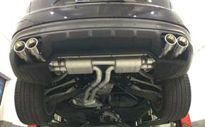 18款保时捷卡宴3.0T 改装Repose四出阀门排气