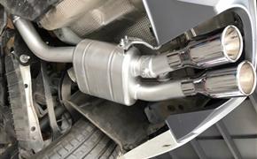 新款奥迪A5 B9 改装repose四出阀门排气