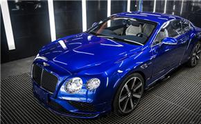 宾利欧陆GT加装PTF透明隐形车身膜