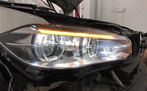 宝马X5加装原厂LED大灯总成