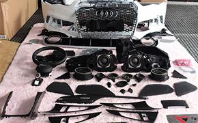 奥迪A6旅行版升级RS包围+BOSE音响+RS方向盘