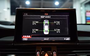 奥迪S6升级RS6方向盘+RS刀锋轮毂+胎压监测+碳纤维进气