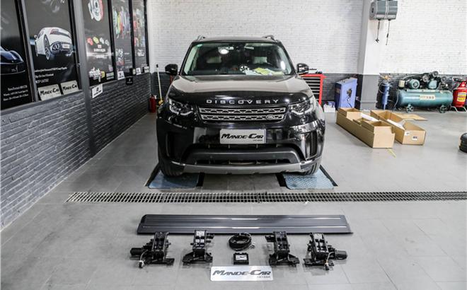 越野车型的标配操作,路虎发现5升级加装电动踏板