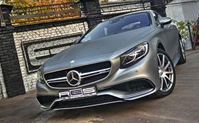 奔驰S63 AMG双门轿跑车改装亚光灰色