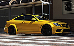 超跑造型 奔驰C63 AMG Coupe Black Series改装