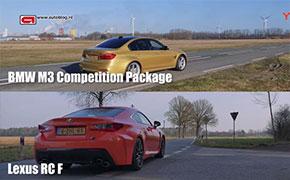 宝马M3 Competition vs 雷克萨斯RC F 0-280km/h加速对比