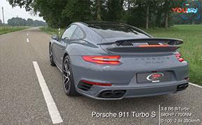 保时捷911 Turbo S vs 迈凯轮570S加速对比