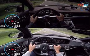 奔驰S63 PK保时捷Turbo S,你猜谁赢了