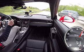 这样开车才爽快 750马力911 Turbo S德国高速飙车