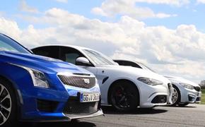 直线加速赛 Giulia性能版VS M3  VS ATS-V