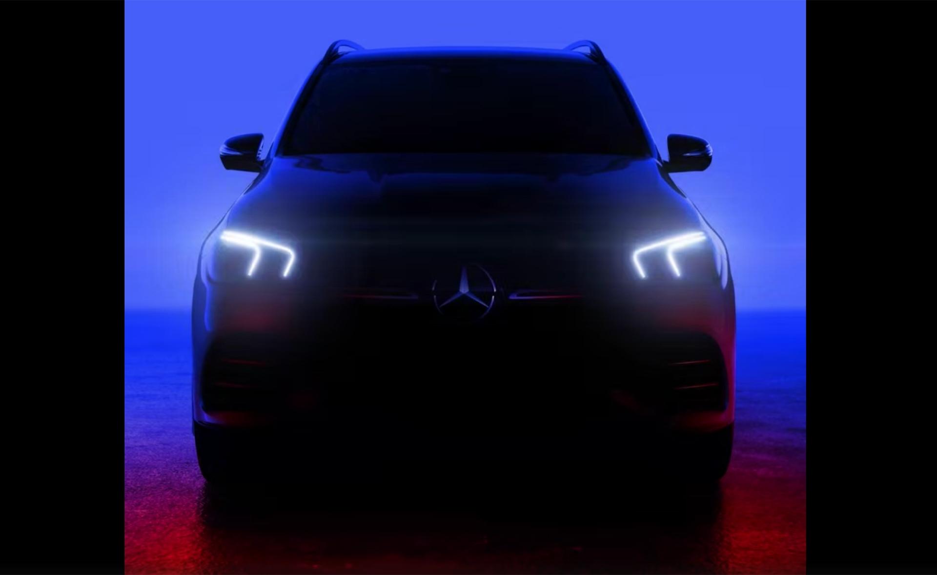 奔驰发布全新GLE预告图 或10月1日首发