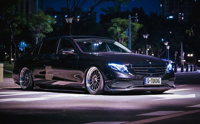 奔驰E级W213姿态改装 立标车型更有豪华风范