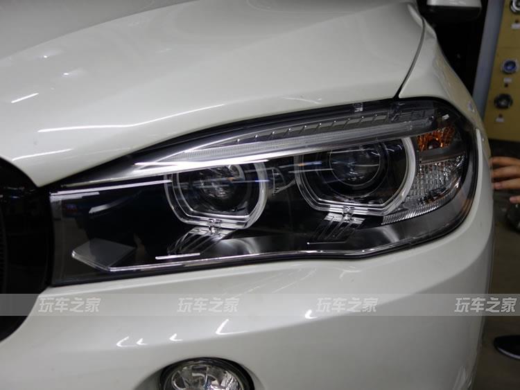宝马X5汽车大灯改装 欧司朗破晓者led透镜