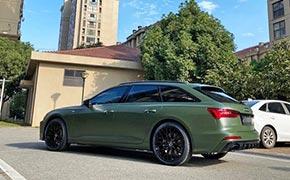 新款奥迪A6 Avant化身个性绿魔 轻度改装回头率十足