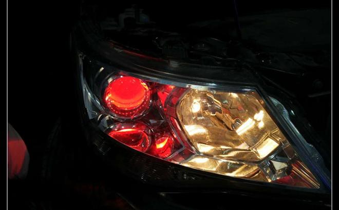 宝骏730车灯改装案例
