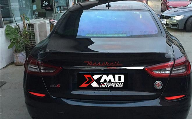 新款玛莎拉蒂总裁改装ASPCE款碳纤维尾翼