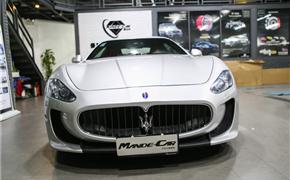 2007款玛莎拉蒂GT改装MC包围搭配DMC碳纤后唇 经典一改