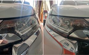 三菱欧蓝德改装HID氙气大灯 夜间行车安全