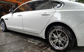 捷豹XF升级极速轮毂电镀色