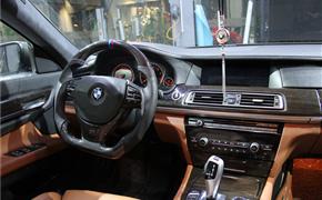 宝马F02 730Li 改装RES排气、M760i轮毂、前杠,内饰改色、艾利磨砂黑车身膜