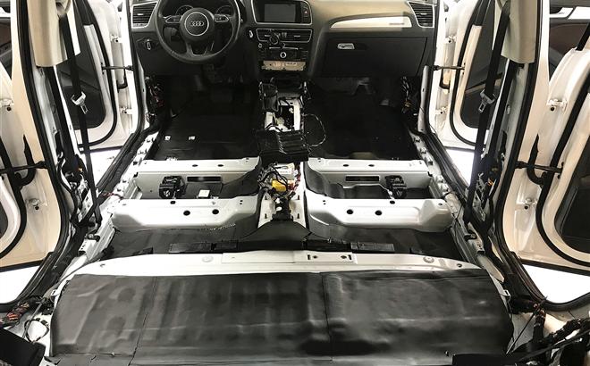 奥迪Q5全车除臭隔音,轻松去除车内异味,晋升驾乘舒适度
