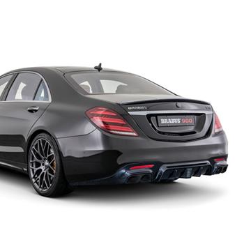 新款奔驰S63AMG改装巴博斯碳纤后唇叶子板饰板,碳纤工艺值得推荐。