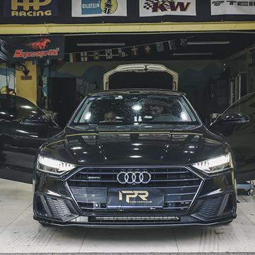 奥迪新款A7改装二代胎压 360全景+车道保持