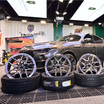 玛莎拉蒂莱万特Levante改装HRE FF10轮毂21寸米其林轮胎