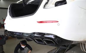 運動氣質更出眾 奔馳E級改E63包圍+輪轂+卡鉗噴漆