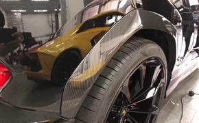 兰博基尼URUS改装升级OEM款干碳纤维轮眉,原车位替换塑料