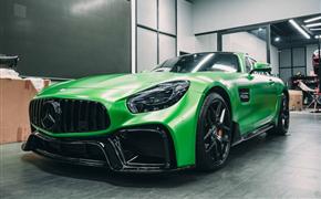 奔驰AMG GT imp 全套包围+魔焰绿改色膜