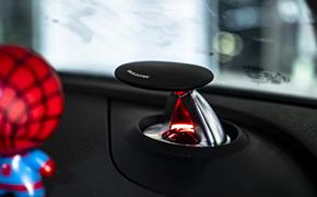 奥迪A4L b9升级完美仪表台氛围灯、升降高音、A柱高音
