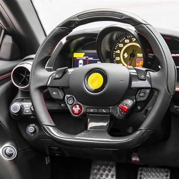 法拉利812改装OEM干碳纤维内饰,空调口 中控面板 LHD按钮饰板,原车替换安装