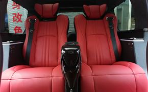 路虎发现3内饰升级改装航空座椅柚木地板 7座改4座更舒适