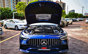 19款奔驰AMG GT50 3.0T刷一阶ecu,ING特调动力反超高功GT53