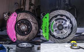 奥迪A3改装TEI Racing P系列街道版性能刹车卡钳套件