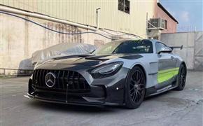 奔驰AMG GT改装BS黑色系列碳纤维大包围前杠后杠侧裙尾翼机盖叶子板,升级套件